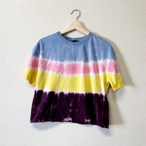 Zara Tie Dye Cropped T-Shirt